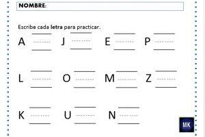 material para aprender el abecedario
