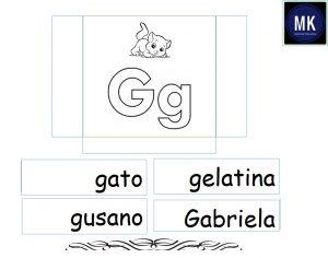 Ficha de la letra G