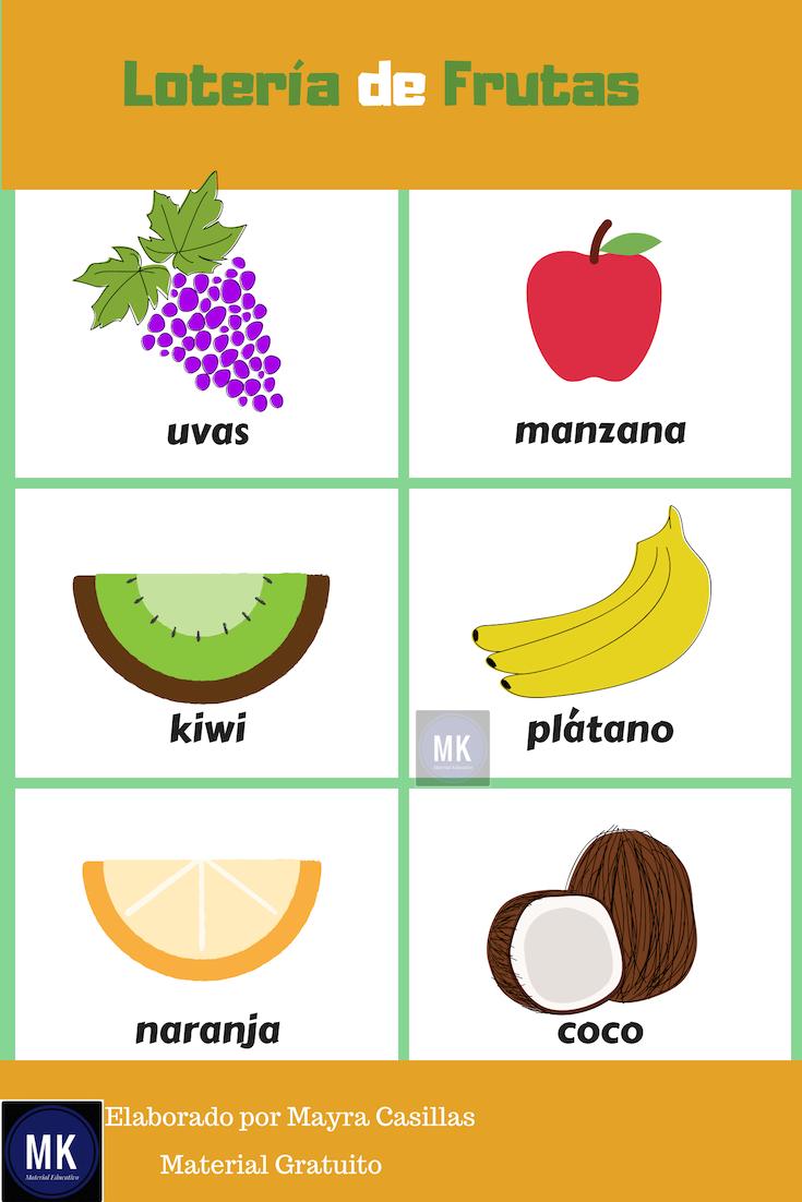 Lotería De Frutas Vamos A Divertirnos