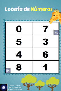 lotería de números para descargar