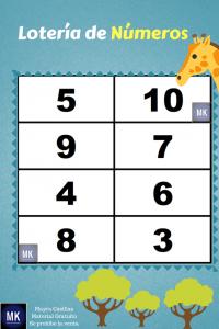 lotería de números del 1 al 100 para imprimir pdf