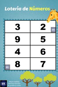 loteria de números del 1 al 50 para imprimir pdf