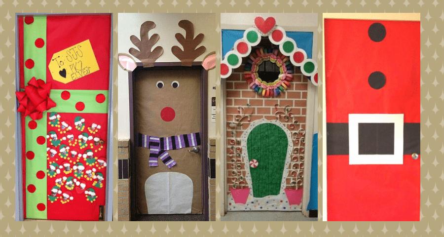 decorar la puerta de navidad