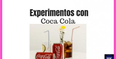 experimentos con coca cola para niños
