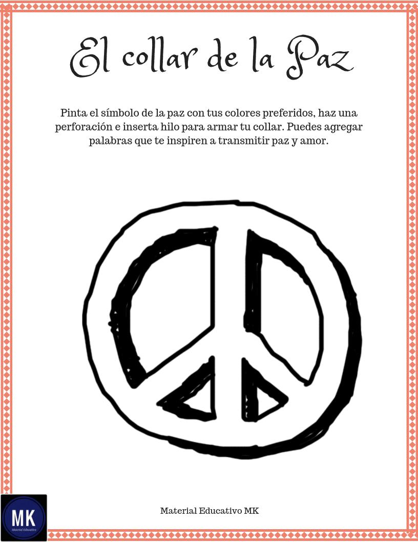 Actividades Para El Día De La Paz Para Preescolar Y