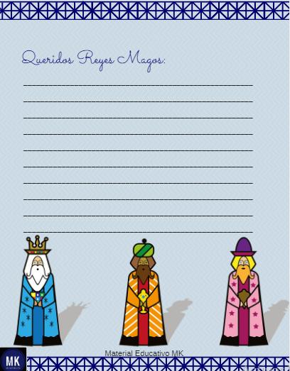 carta a los tres Reyes Magos