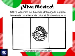 bandera de mexico colorear