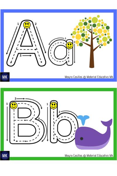 Abecedario Para Imprimir Gratis Para Preescolar Y