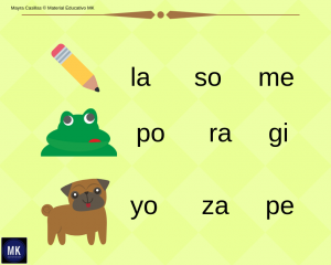 sílabas para inicial