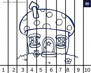 rompecabezas de numeros del 1 al 20 para colorear