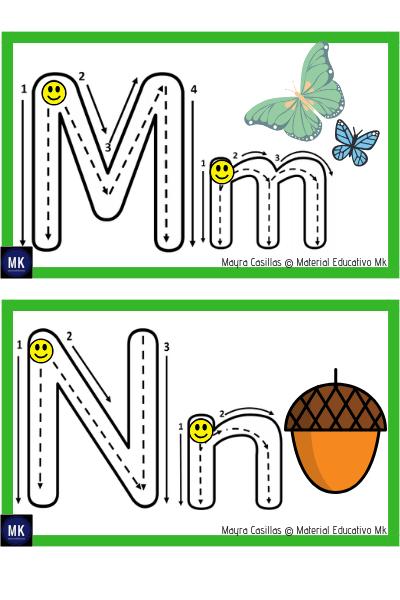 abecedario preescolar para imprimir