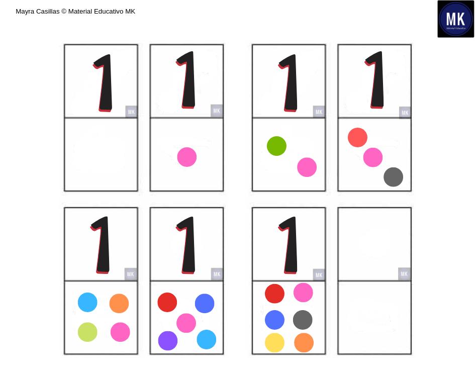 imágenes de dominó de números