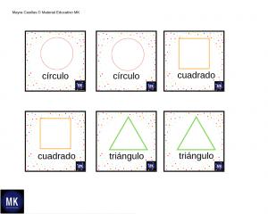 memorama de figuras geometricas para preescolar