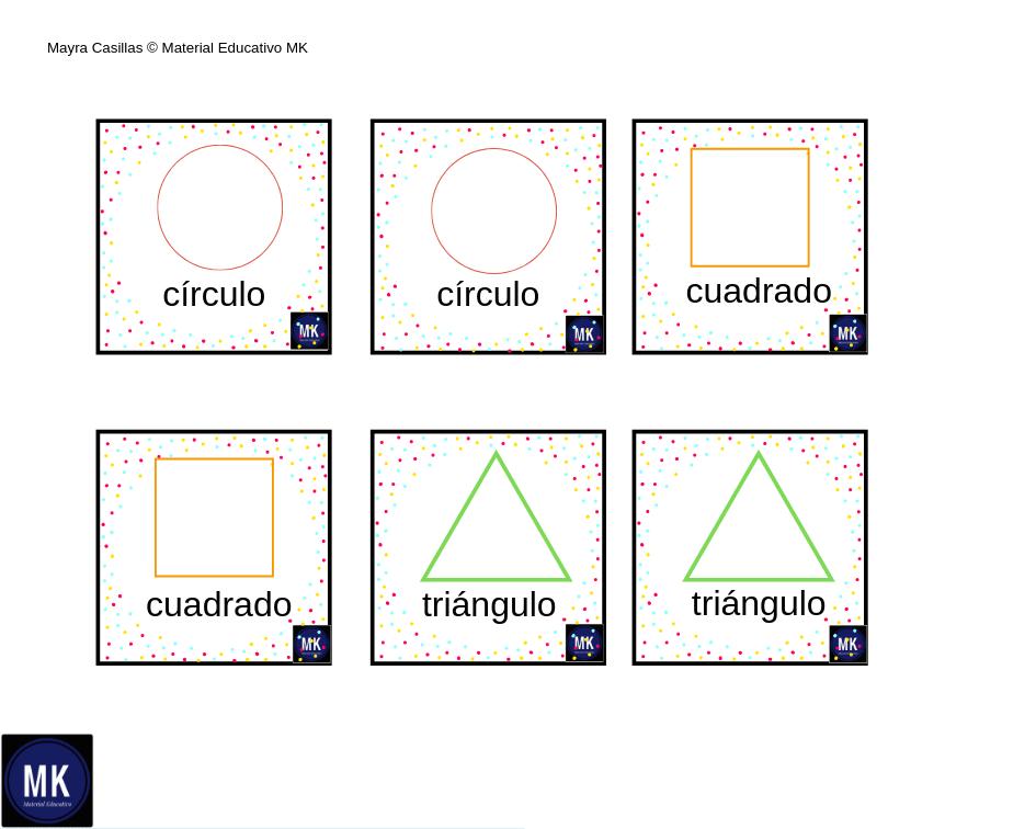 Memorama De Figuras Geometricas Para Imprimir