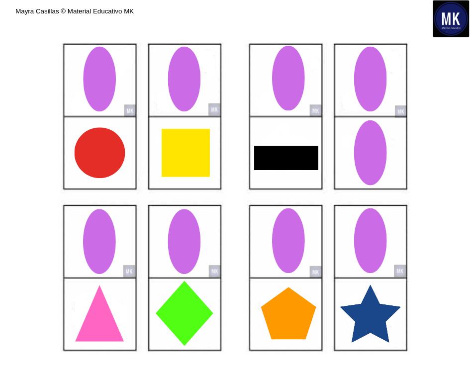 ea8a9a771b36d ॐ Dominó de Figuras Geométricas para  Imprimir en PDF