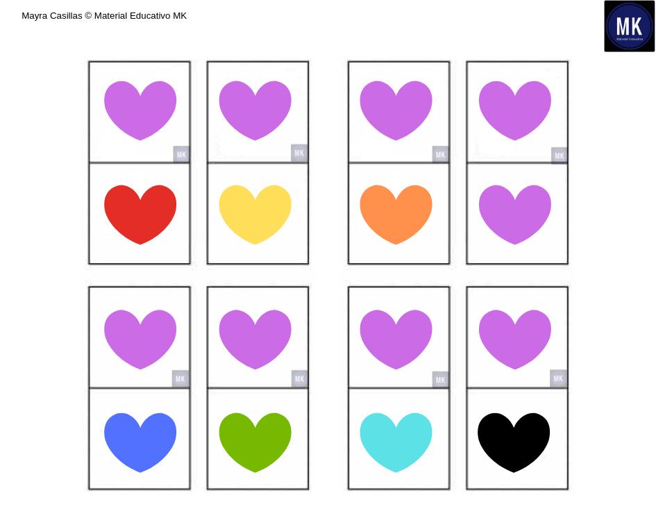fichas de colores para imprimir pdf