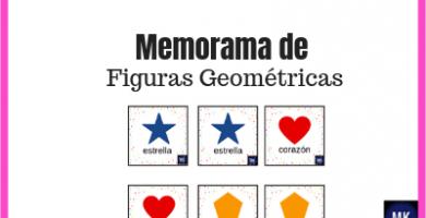 juego de memoria de figuras geométricas