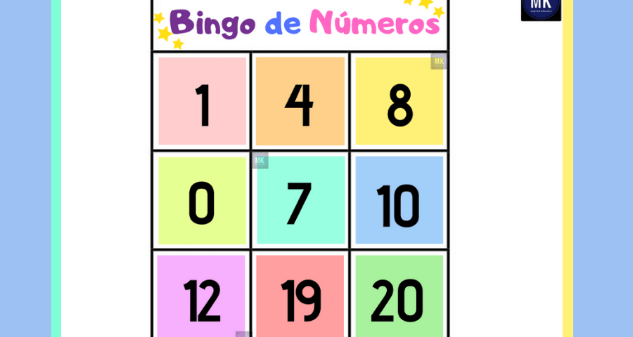 bingo de números enteros