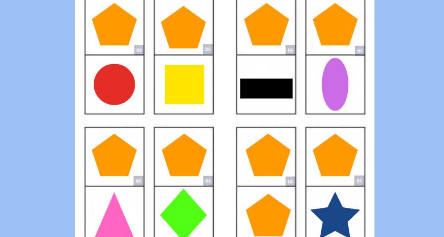 ॐ Domino De Figuras Geometricas Para Imprimir En Pdf