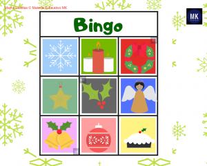 bingo de navidad en ingles