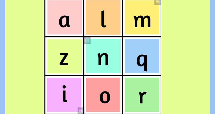 tablas de bingo para imprimir con letras