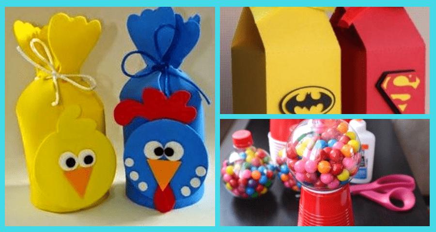 dulceros reciclados para el día del niño