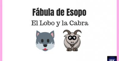 el lobo y la cabra fabula