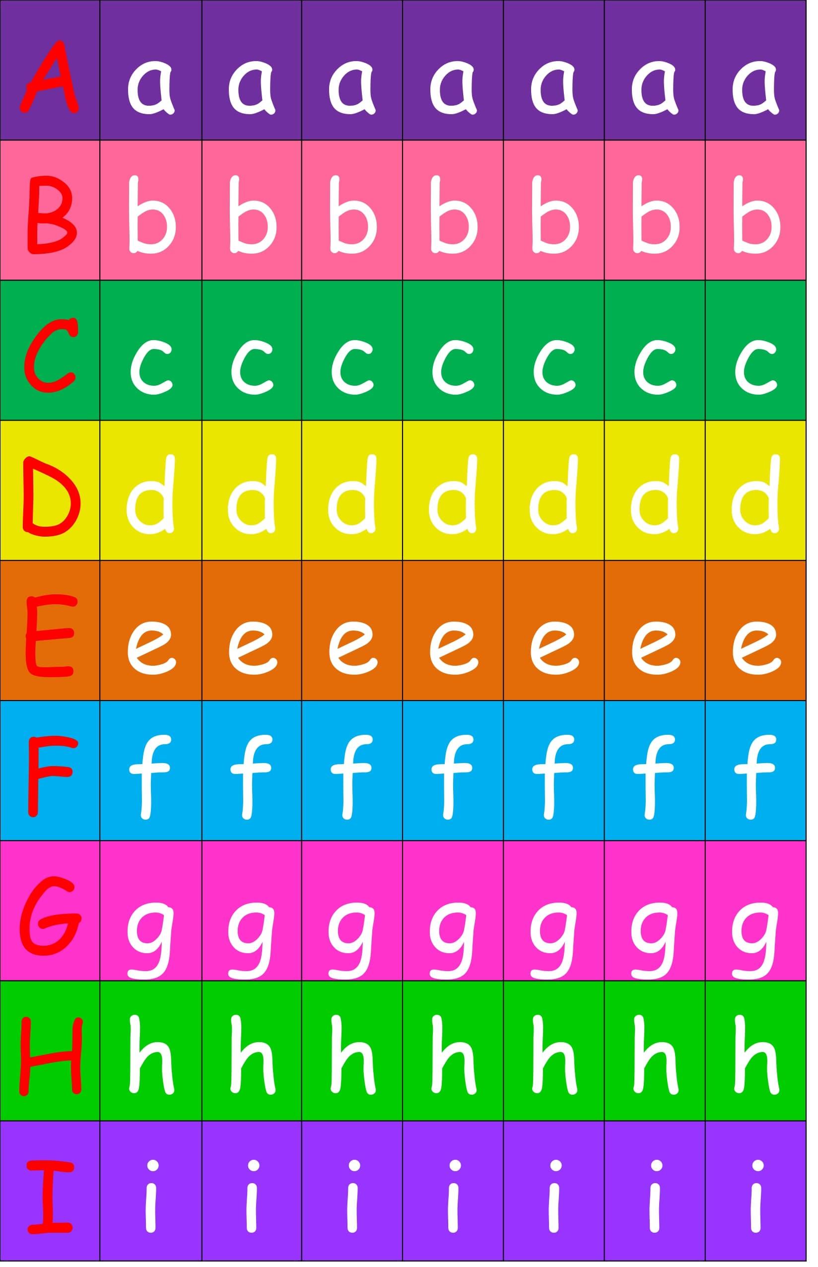 Alfabeto Movil A Color