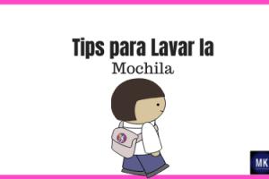 tips para lavar la mochila