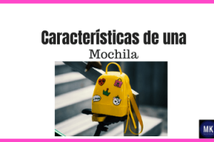 caracteristicas mochila